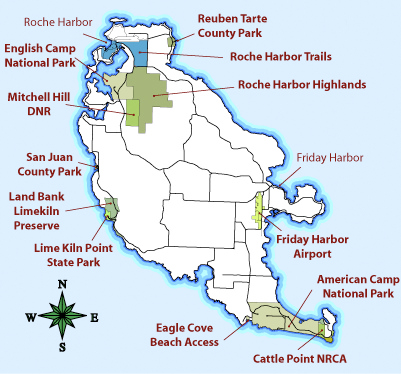 San Juan Islands - Map us laatitude san juan